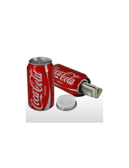 Lata ocultación Coca-cola