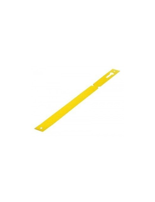 Etiquetas Doblar Amarilla o blanca 1,3 x 12 cm