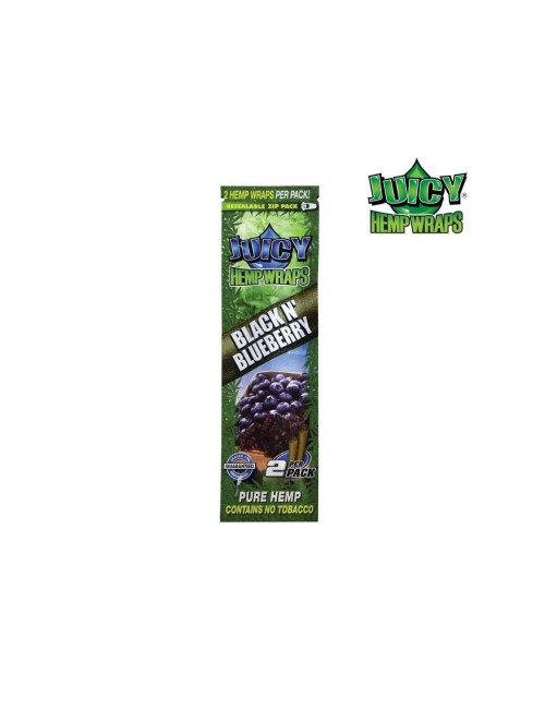 Blunt Juicy Hemp Wraps Black N Blueberry