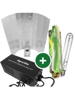 Kit de iluminación magnético Agrolite 250W Reflector Estuco